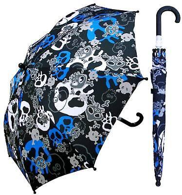 """32"""" Children Kid Pirate Skull Umbrella - RainStoppers Rain/Sun UV"""