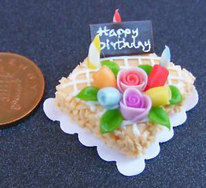 Cake-With-Orange-Icing-Dolls-House-Miniature-NC73