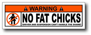 No-Fat-Chicks-Funny-Warning-Sticker-Decal-ATV-UTV-MX