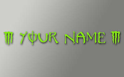 2-MOTORBIKE-SCREEN-NAMES-MONSTER-STYLE-TEXT-25mm-high