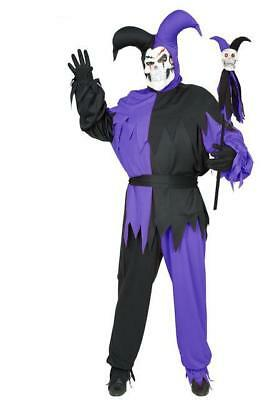 Unisex Wicked Chamber Jester Large Adult Costume -new