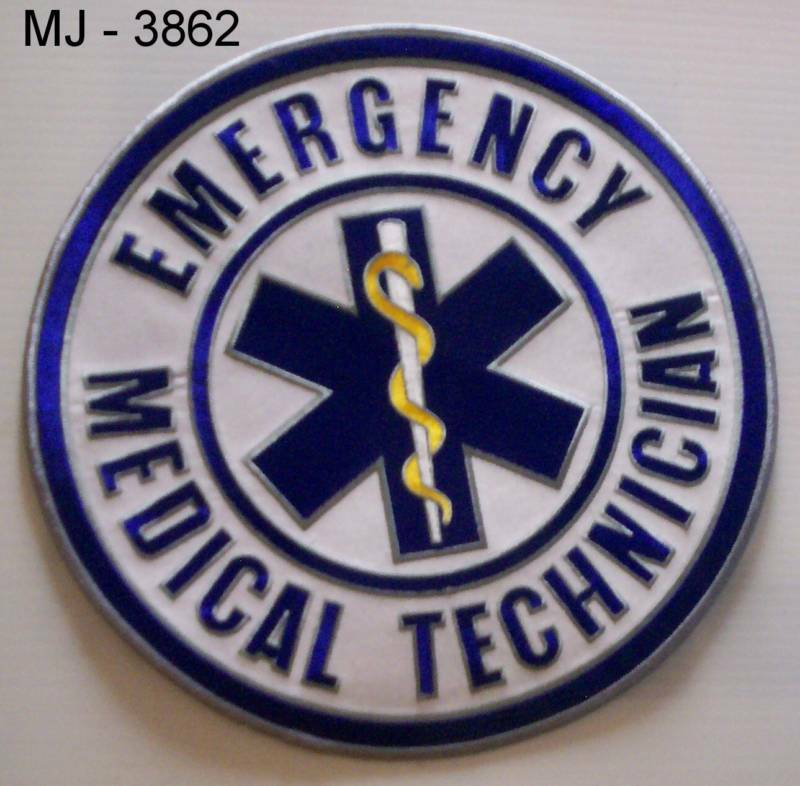 Emergency Medical Technician Embroidered Back Patch