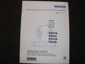 Wacker-PDT2A-PDI2A-PDT3A-PDI3A-operators-parts-manual
