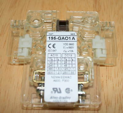 Allen Bradley 195-gao1 Auxillary Switch Includes Screws