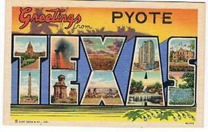 Post-Cards-034-Greetings-from-Pyote-034-1940-039-s