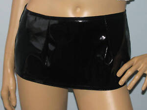 New-sexy-extra-short-black-pvc-micro-mini-skirt-all-sizes-free-Uk-delivery