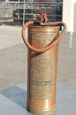 GENERAL QUICK AID COPPER FIRE EXTINGUISHER A-704 BRASS
