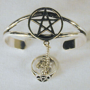 OPEN-PENTAGRAM-SLAVE-BRACELET-31-jewelry-RING-new-cuff