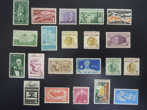 1958-US-Commemorative-Year-Set-1100-1123-MNH-OG