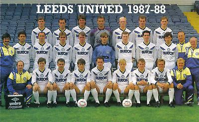 LEEDS UNITED FOOTBALL TEAM PHOTO 1987-88 SEASON