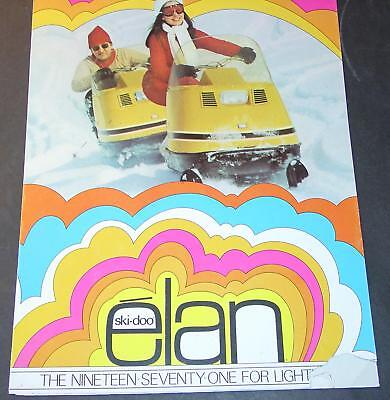 1971 SKI-DOO ELAN SNOWMOBILE SALES BROCHURE 6 PG