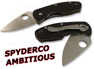 Spyderco-Ambitious-G-10-Plain-Edge-Value-Folder-C148GP