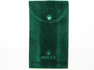 GENUINE-ROLEX-DARK-GREEN-VELVET-WATCH-TIMEPIECE-POUCH-BAG