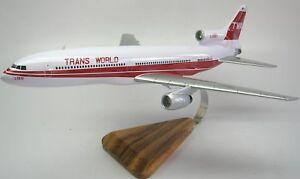 L-1011-Tristar-TWA-Transworld-Wood-Airplane-Model-Small-Free-Shipping