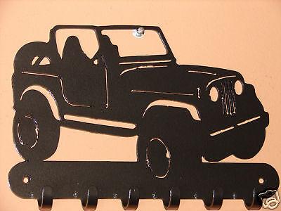 Jeep Metal Key Rack Home Decor Hat Leash Cj 4x4 Hanging