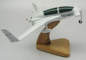 Speed-Canard-Gyroflug-Airplane-Wood-Model-Replica-Small-Free-Shipping