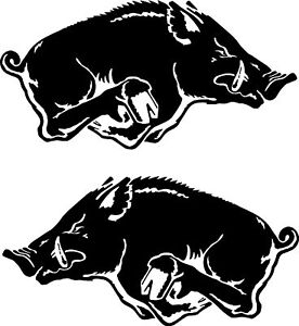 WILD BOAR - PIG HUNTING STICKERS 200 mm x 2 4wd 4x4