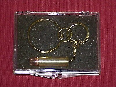 Remington .44 Magnum Bullet Double Key Ring Gift Boxed
