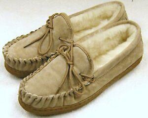 NEW Mens Sheepskin Moccasins Slipper Shoe House Bottie Medium (M,D)