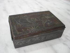 1920s ANTIQUE MINIATURE JAPANESE METAL JEWELRY BOX eBay