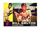 1960 Topps Bill Bruton Milwaukee Braves #37 Baseball Card