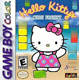 Nintendo GameBoy Color Game Cartridge HELLO KITTY CUBE FRENZY