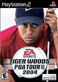 Game-Tiger-Woods-PGA-Tour-2004-Sony-PlayStation-2-PS2-Excellent-Condition