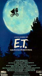 E.T. The Extra-Terrestrial VHS, 1996  - $0.99