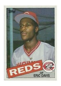 1985 Topps Eric Davis Cincinnati Reds 627 Baseball Card