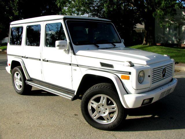 2003 mercedes benz g500 g class suv white gray luxury for Mercedes benz g class suv for sale