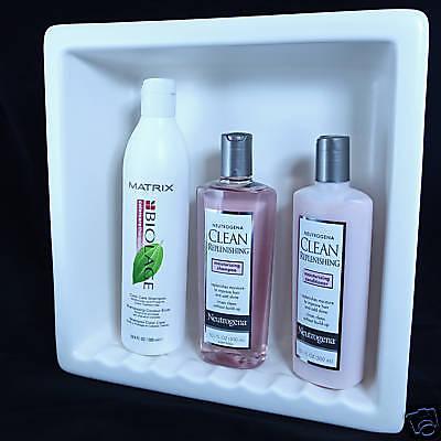 Shampoo Soap Shower Recessed Niche Ceramic Shelf Matte White 1 Ebay