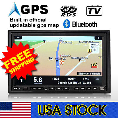 "7"" Car DVD Player Double Din GPS Navigation+MAP&CAMERA on Rummage"