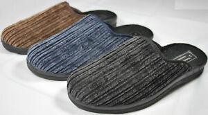Herren-Pantoffel-blau-schwarz-oder-braun-Hausschuhe-Gr-40-41-42-43-44-45-46-NEU