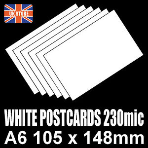 100-x-A6-White-Blank-Competition-Entry-Postcards-230mic