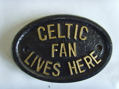Celtic Bhoys Hoops Fan Football Plaque Sign