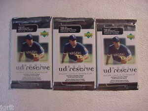3 (three packs) new 2001 UPPER DECK ud reserve baseball