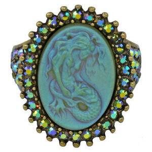 NEW-KIRKS-FOLLY-LORELEI-MERMAID-DREAM-RING-BT-SIZE-7
