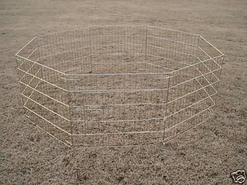"""36"""" Gold Pet Dog Cat Play Exercise Pen Fence w/Case 4G"""