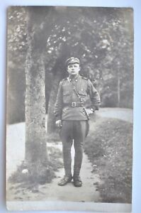 1920s-Estonian-Liberation-Army-Officer-Walking-Outdoors