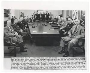 1959-President-DWIGHT-D-EISENHOWER-and-Cabinet-News-Photograph
