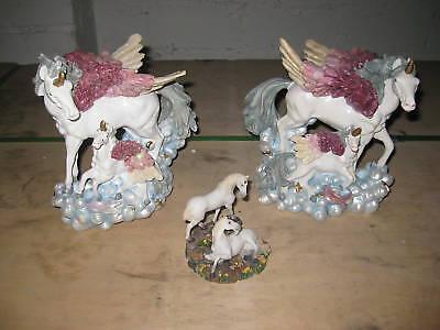 Figur 3er Set Pegasus Pferd Figuren Fantasy