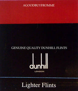 PACKET OF 9 DUNHILL ® LIGHTER FLINTS (RED) ROLLAGAS NEW