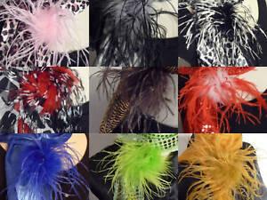 2-Tone-Ostrich-Feather-Puff-Hair-Clip-Brooch-Lapel-Pin