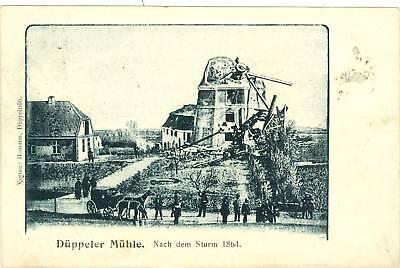 Düppel, Düppeler Mühle, Zerstörung 1864, um 1905/10