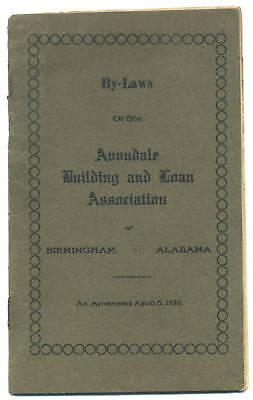 1916 Birmingham Alabama Avondale BUILDING & LOAN ASSN., banking history book