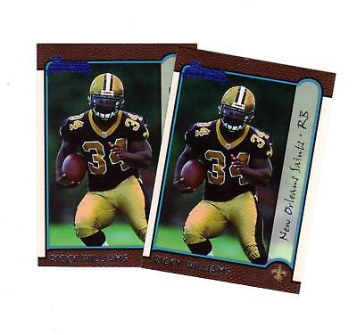 1999 Bowman Ricky Williams Rookie Card Lot Rc 182