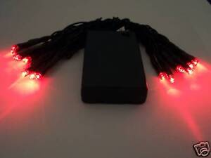 Red Led Battery Powered Christmas Lights Flashing Capable