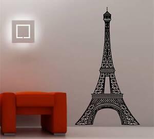 Eiffel Tower Wall Art huge eiffel tower wall art sticker vinyl lounge bedroom | ebay