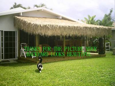 """30""""x 8' Commercial Grade Tiki Hut Bar Mexican Palm Roof Thatch Runner"""