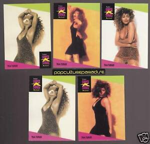 TINA-TURNER-Pop-1991-Pro-Set-MUSIC-SUPER-STARS-5-CARDS